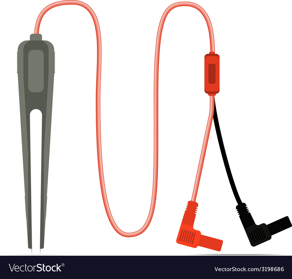 Multimeter tweezer probe isolated vector | Price: 1 Credit (USD $1)