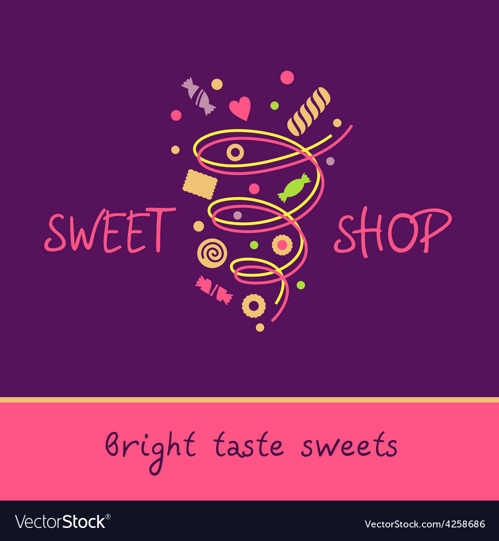 Pastry shop bright taste sweets vector | Price: 1 Credit (USD $1)