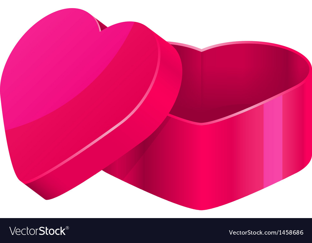 Pink heart box vector | Price: 1 Credit (USD $1)