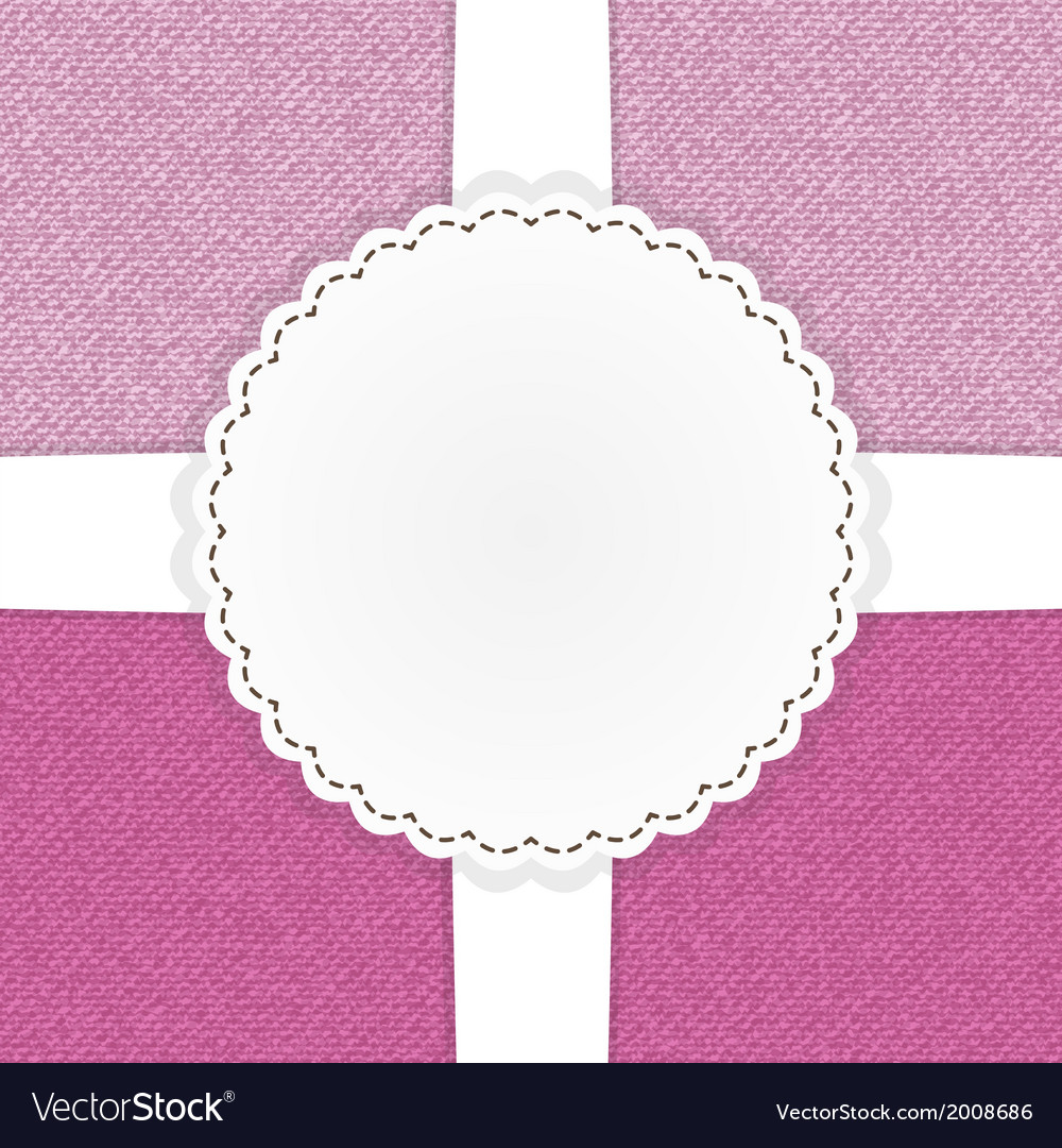 Pink jeans template card vector | Price: 1 Credit (USD $1)