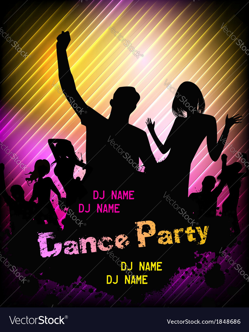 Poster for disco party vector | Price: 1 Credit (USD $1)