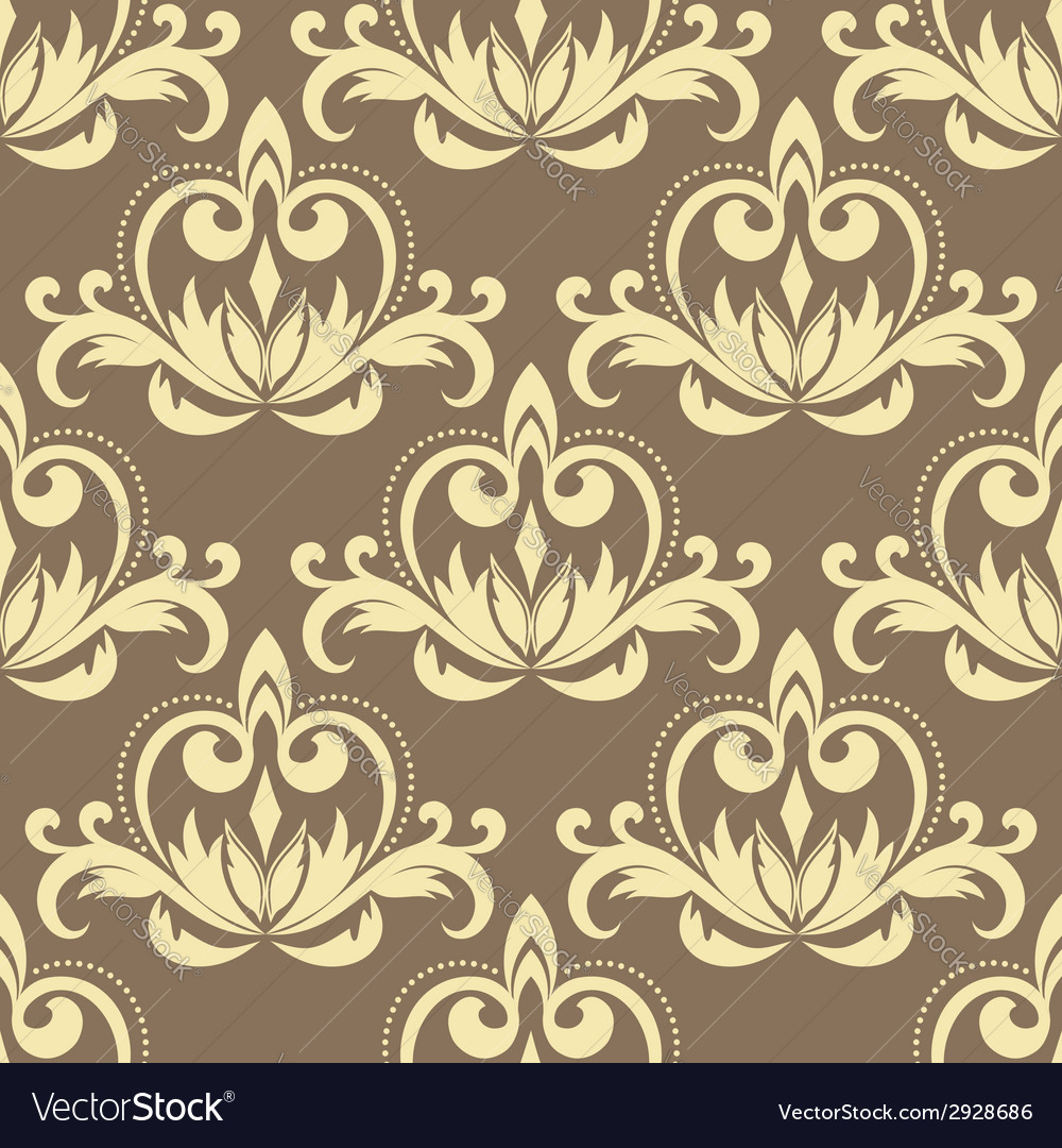 Retro beige seamless pattern vector | Price: 1 Credit (USD $1)