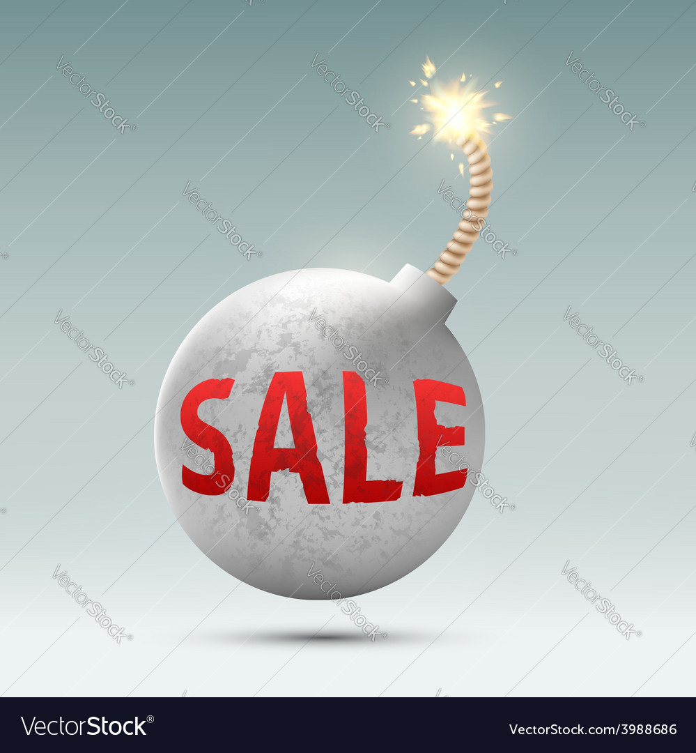 Round bomb with the word sale vector | Price: 1 Credit (USD $1)