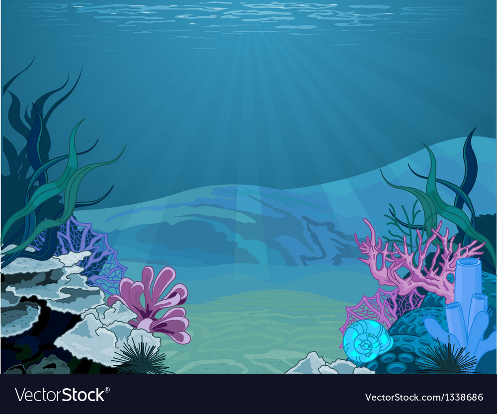 Underwater landscape vector | Price: 3 Credit (USD $3)