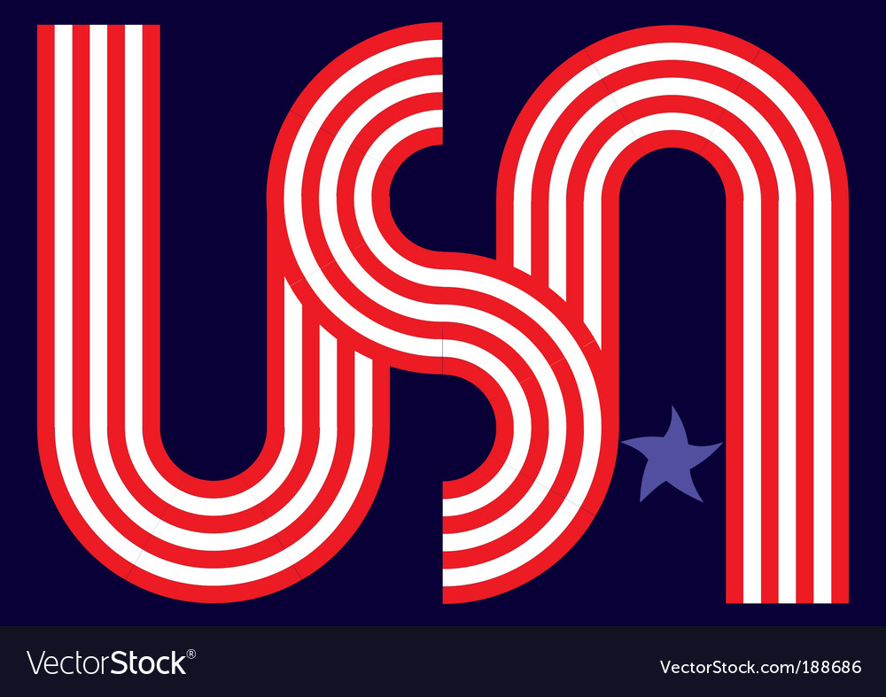 Usa star vector | Price: 1 Credit (USD $1)