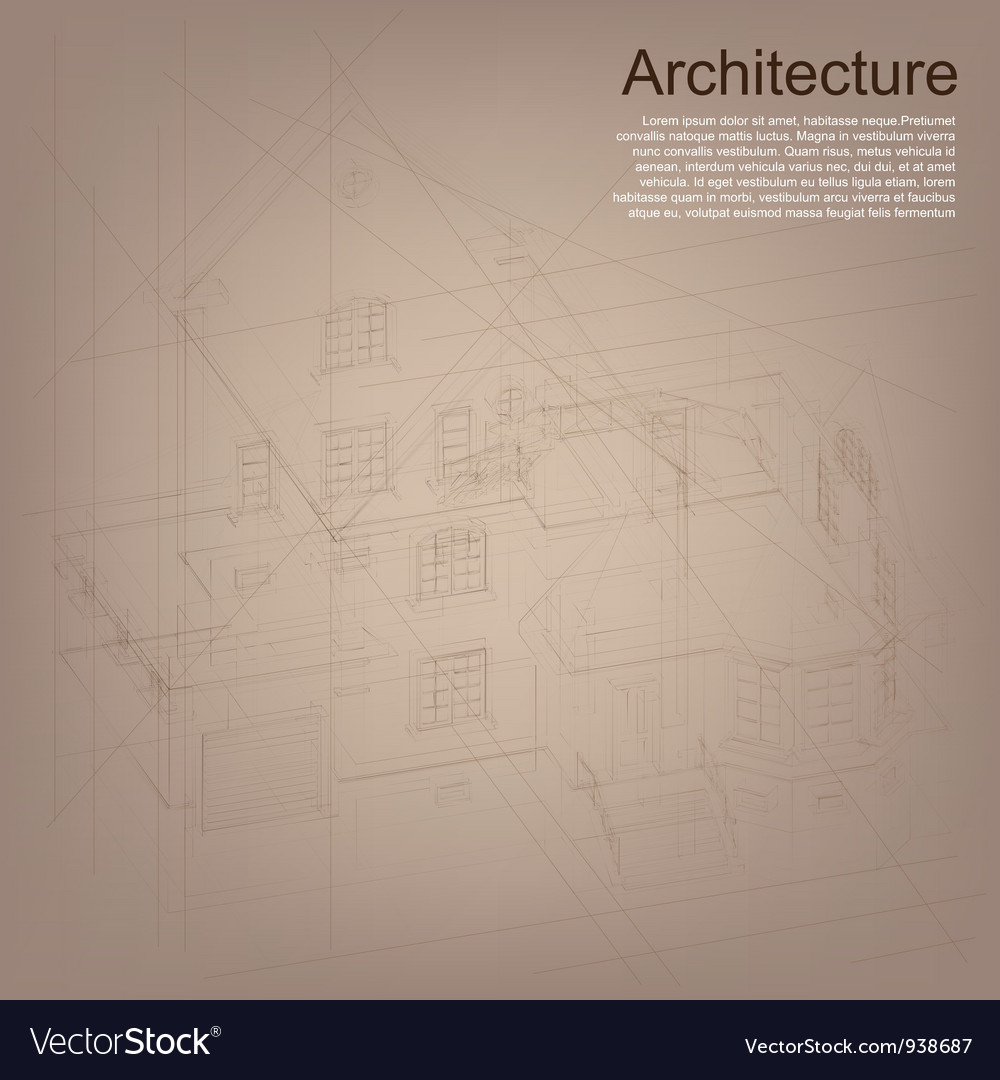 Architectural background with a building model vector   Price: 1 Credit (USD $1)