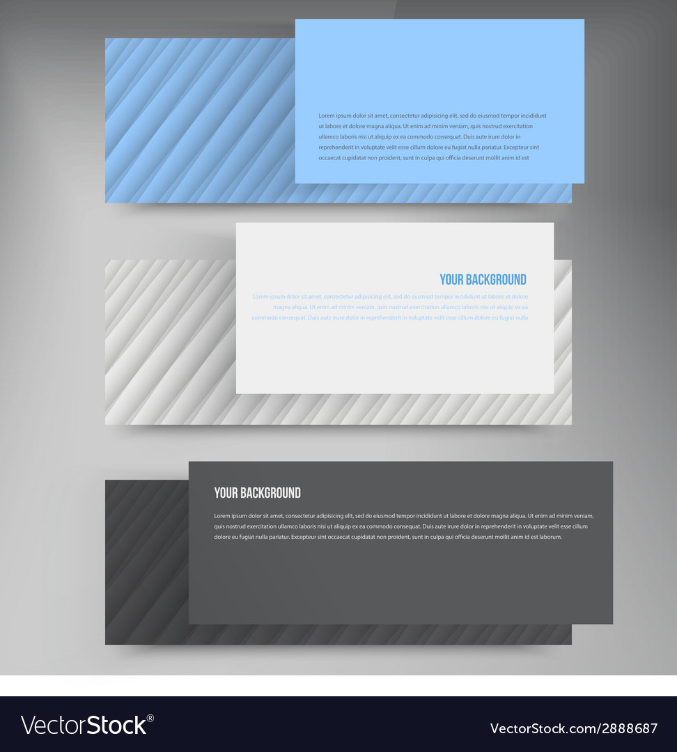 Banners lines color web design vector | Price: 1 Credit (USD $1)