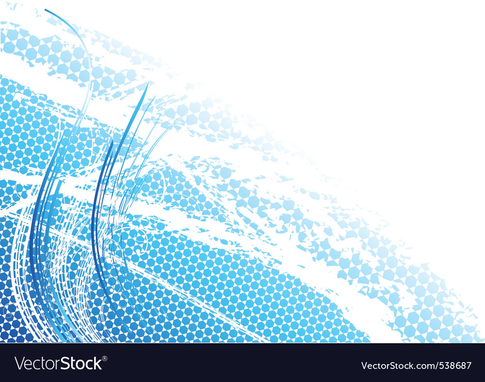 Blue light background with curves vector | Price: 1 Credit (USD $1)