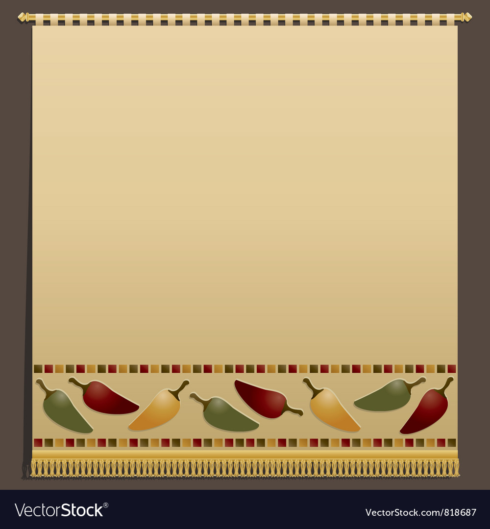 Chili pepper wall hanging vector | Price: 1 Credit (USD $1)