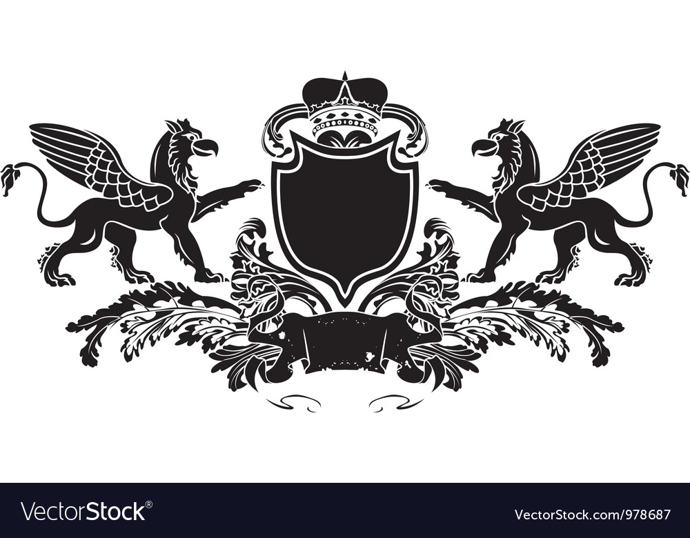Griffin banner vector | Price: 1 Credit (USD $1)