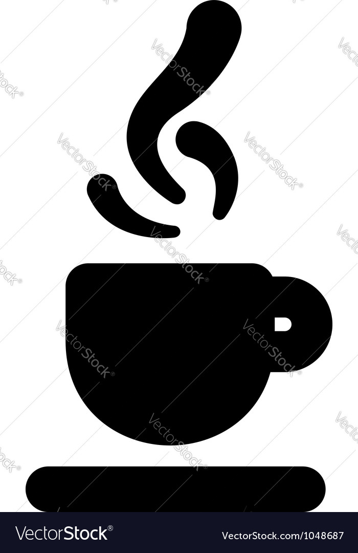 Hot beverage icon vector | Price: 1 Credit (USD $1)