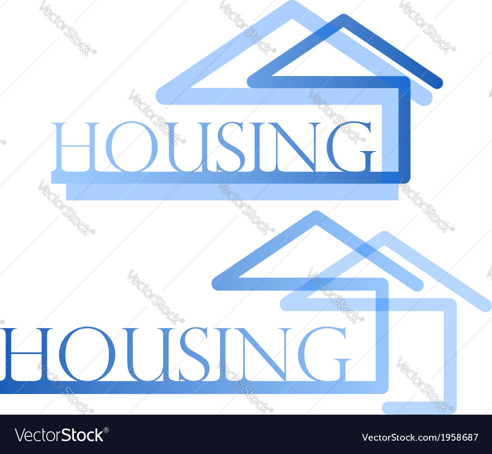 Housing symbol vector | Price: 1 Credit (USD $1)