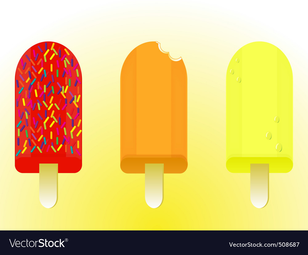 Ice lolly pops vector | Price: 1 Credit (USD $1)