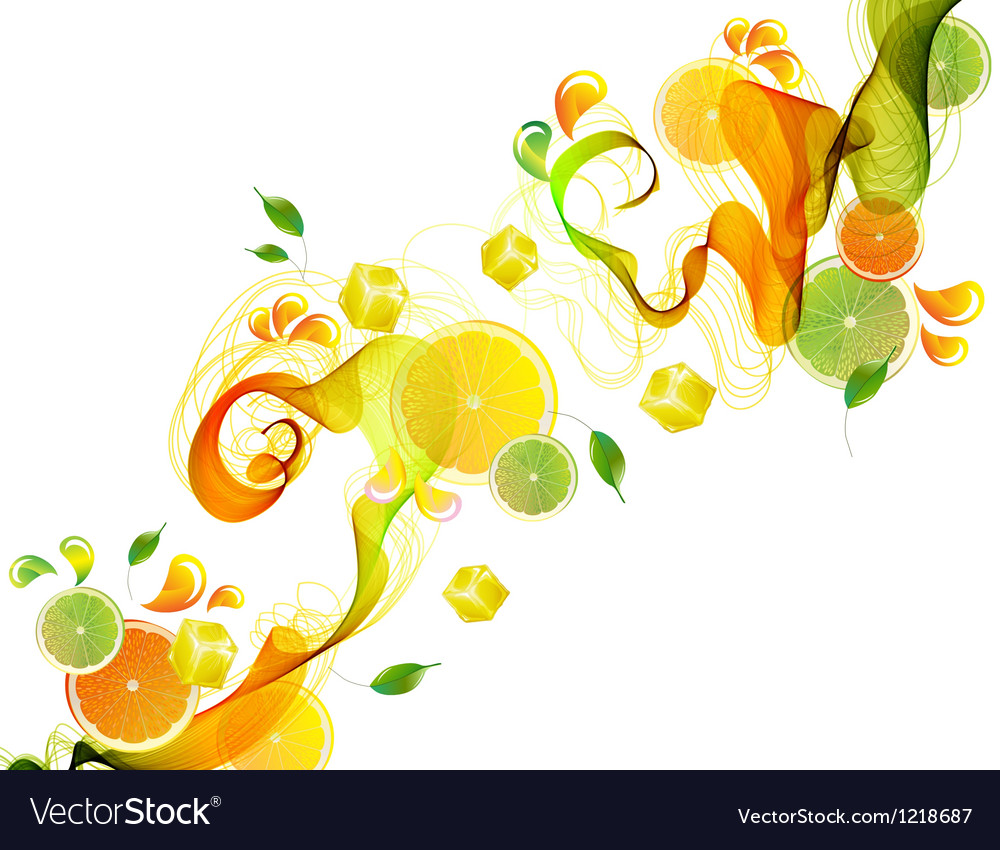 Orange abstract splash vector | Price: 1 Credit (USD $1)