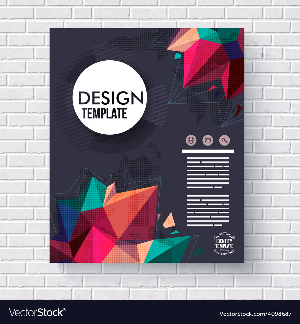 Presentation and design template on a brick wall vector | Price: 1 Credit (USD $1)