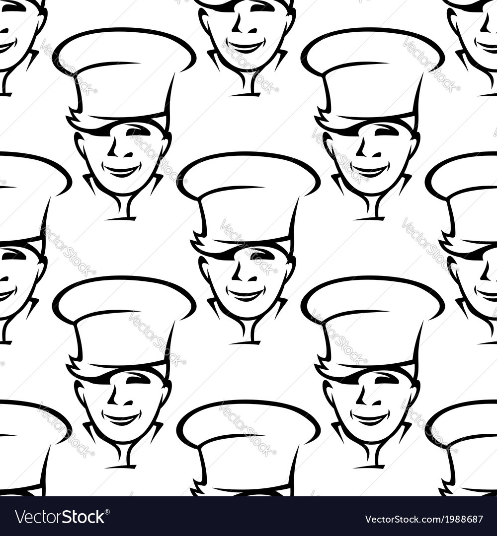 Repeat pattern of smiling young chefs vector | Price: 1 Credit (USD $1)