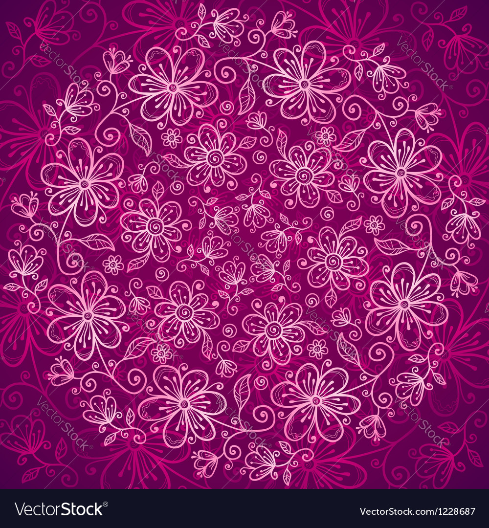 Vinous lacy vintage flowers background vector | Price: 1 Credit (USD $1)