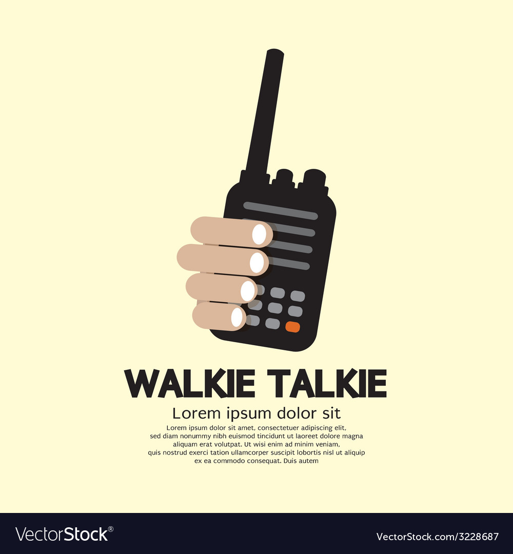 Walkie talkie in hand vector | Price: 1 Credit (USD $1)