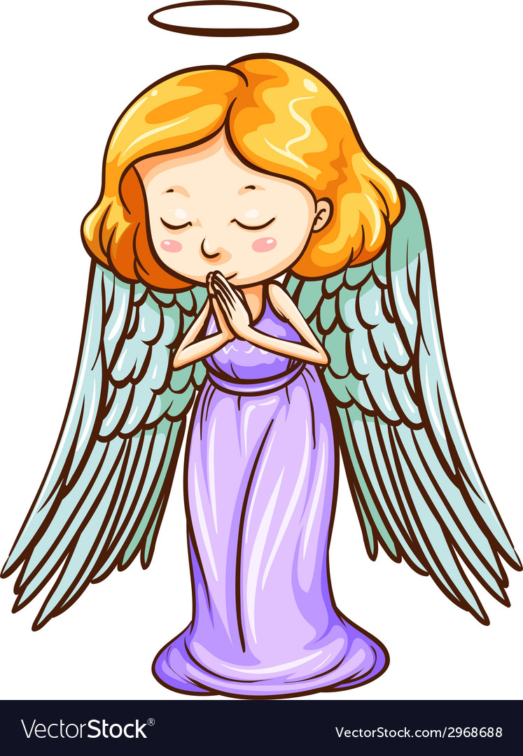 An angel praying vector | Price: 1 Credit (USD $1)