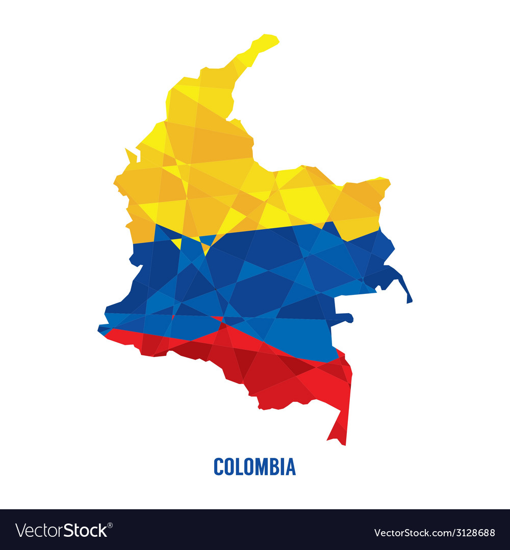 Map of colombia vector | Price: 1 Credit (USD $1)