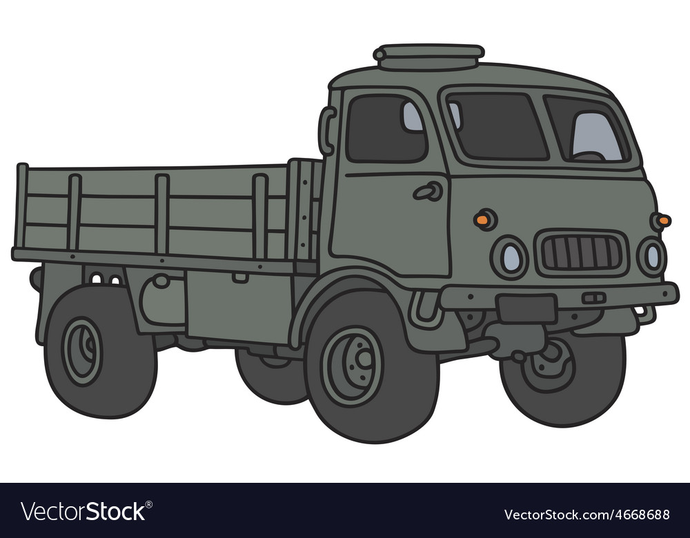 Old military lorry vector | Price: 1 Credit (USD $1)