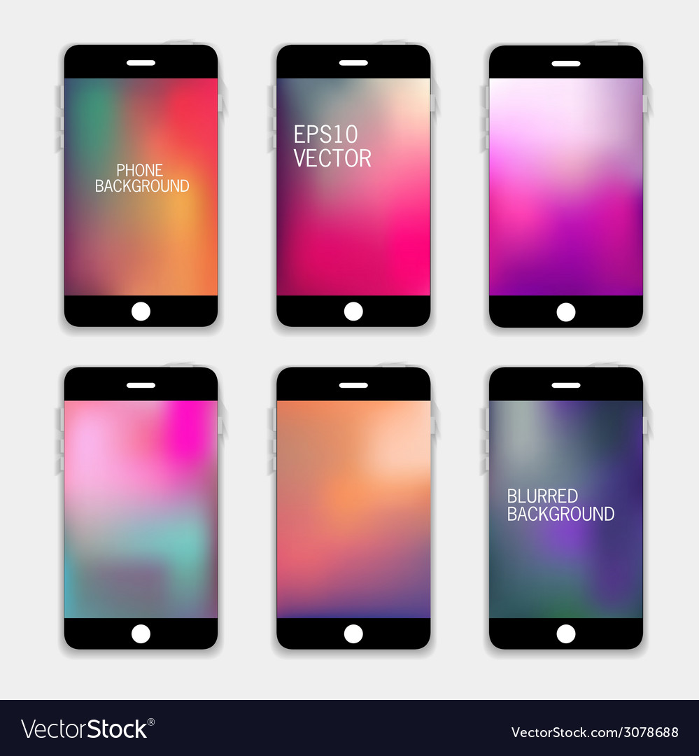 Phones backgrounds vector | Price: 1 Credit (USD $1)