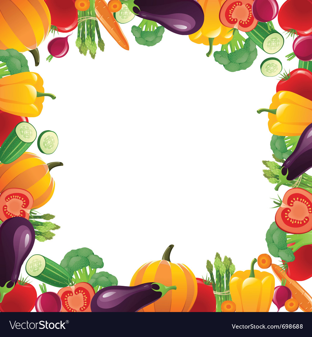 Vegetables frame for your designs - vector | Price: 3 Credit (USD $3)