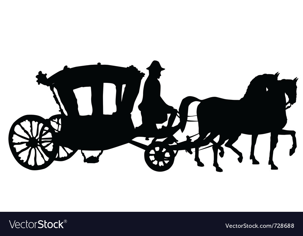 Whip horse and carriage vector | Price: 1 Credit (USD $1)