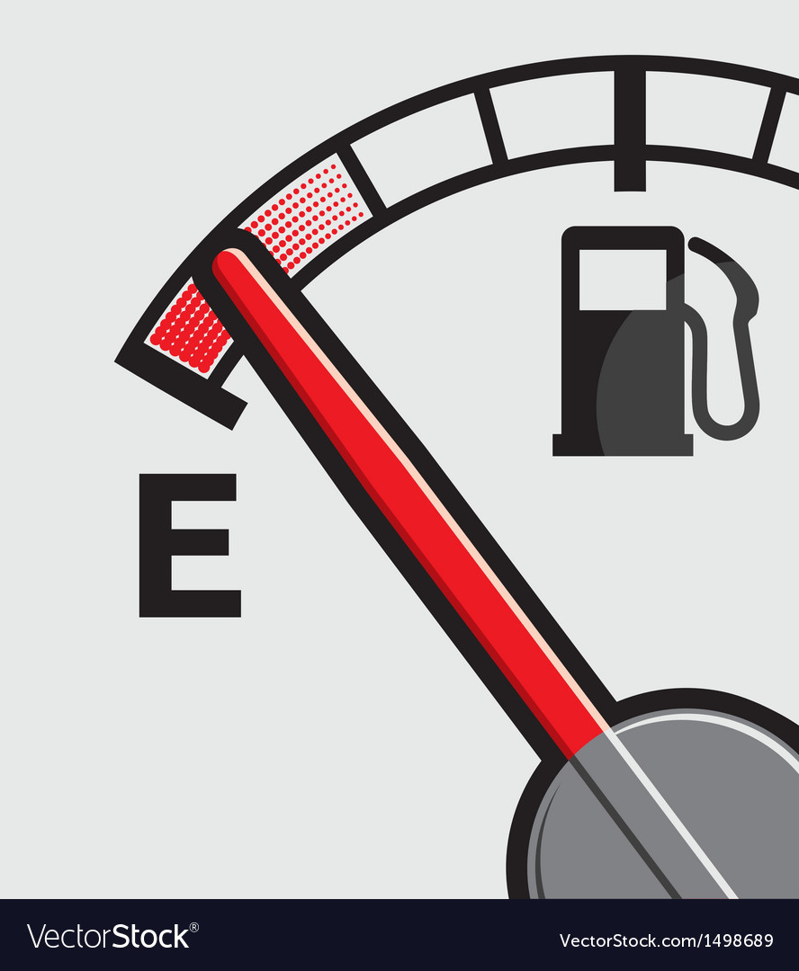 Car gas tank indicator vector | Price: 1 Credit (USD $1)