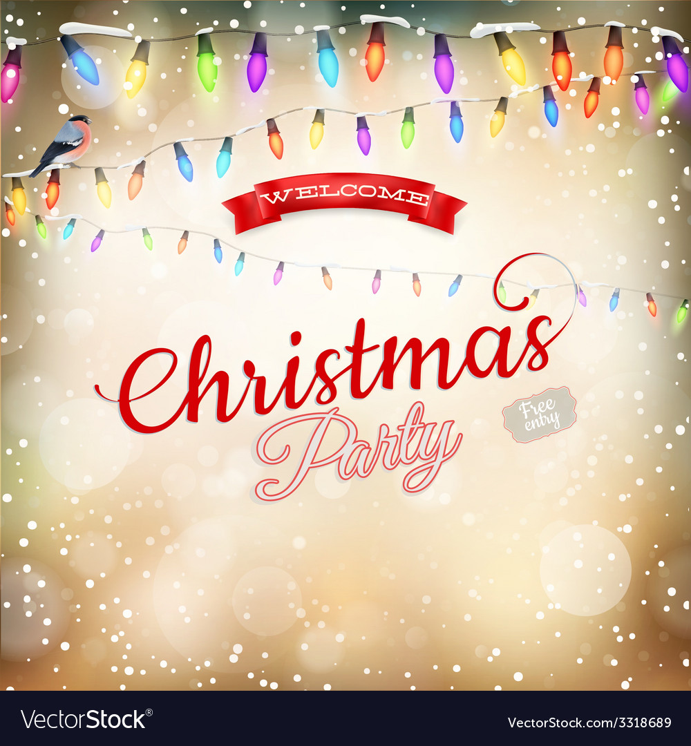 Christmas background withgarland eps 10 vector | Price: 3 Credit (USD $3)