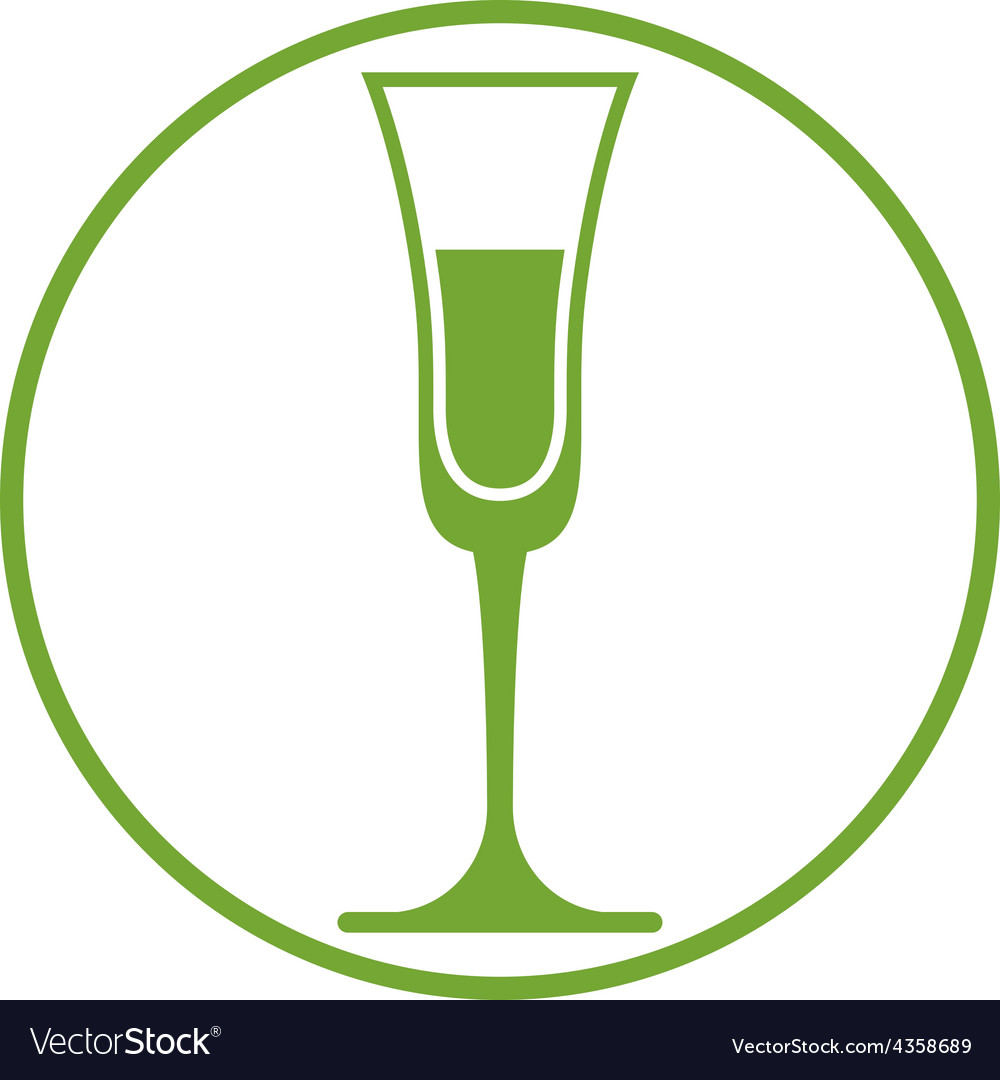 Classic champagne glass alcohol beverage theme li vector | Price: 1 Credit (USD $1)