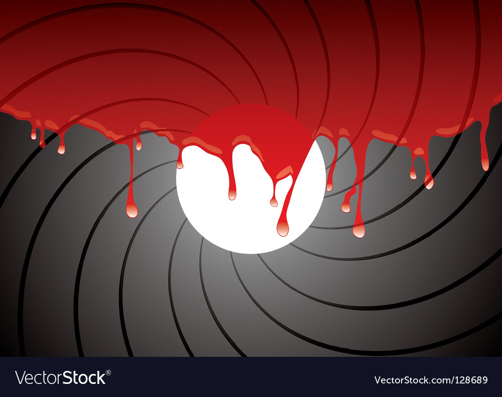 Gun barrel inside blood vector | Price: 1 Credit (USD $1)