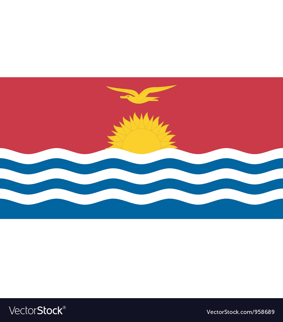 Kiribati flag vector | Price: 1 Credit (USD $1)