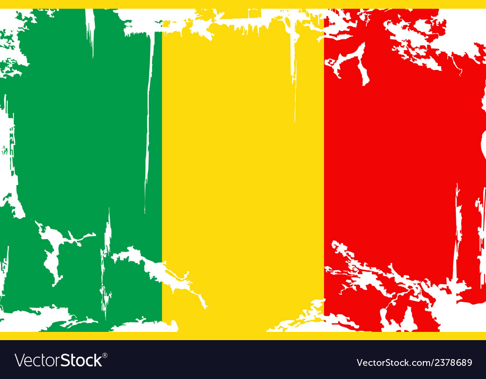 Malian grunge flag vector | Price: 1 Credit (USD $1)
