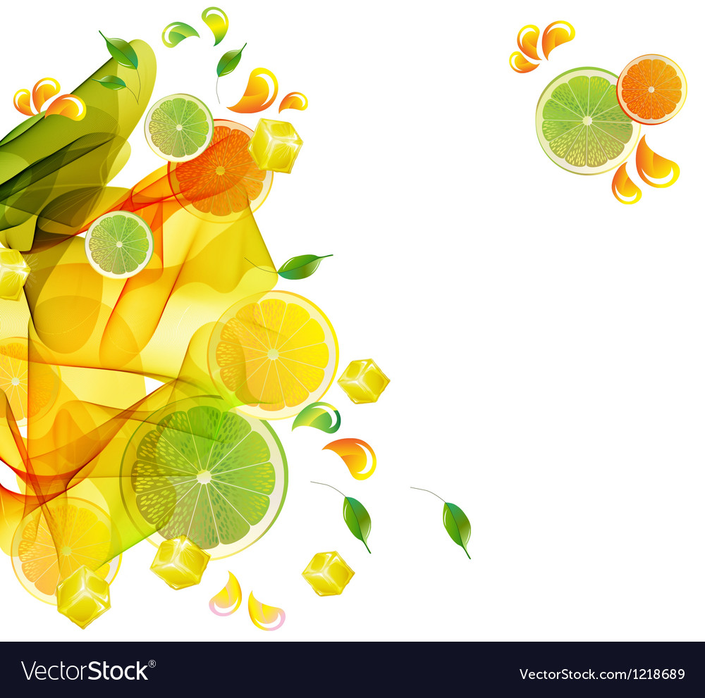 Orange abstract splash vector