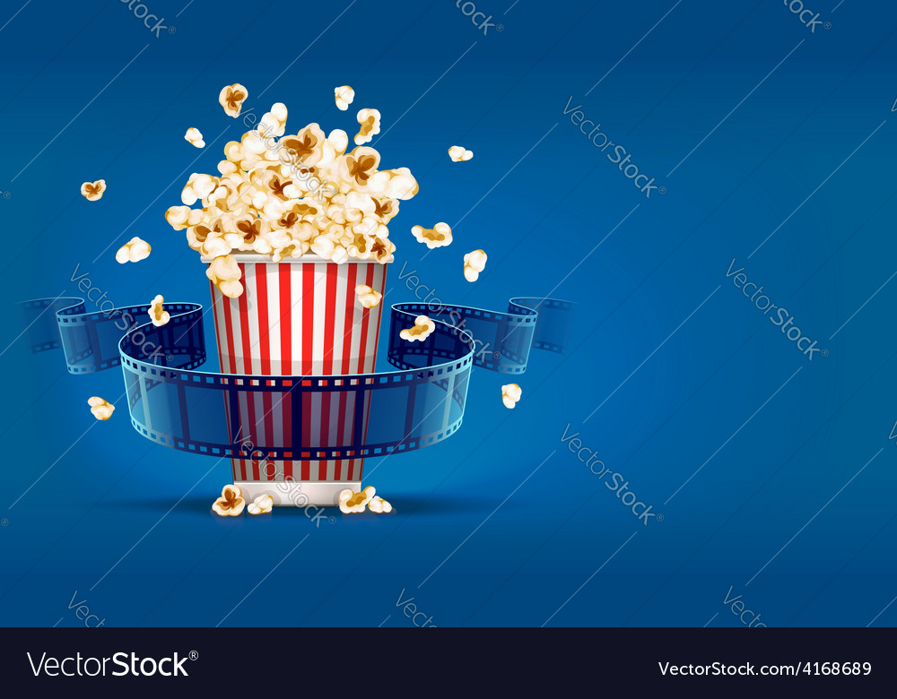 Popcorn for cinema and movie vector | Price: 3 Credit (USD $3)