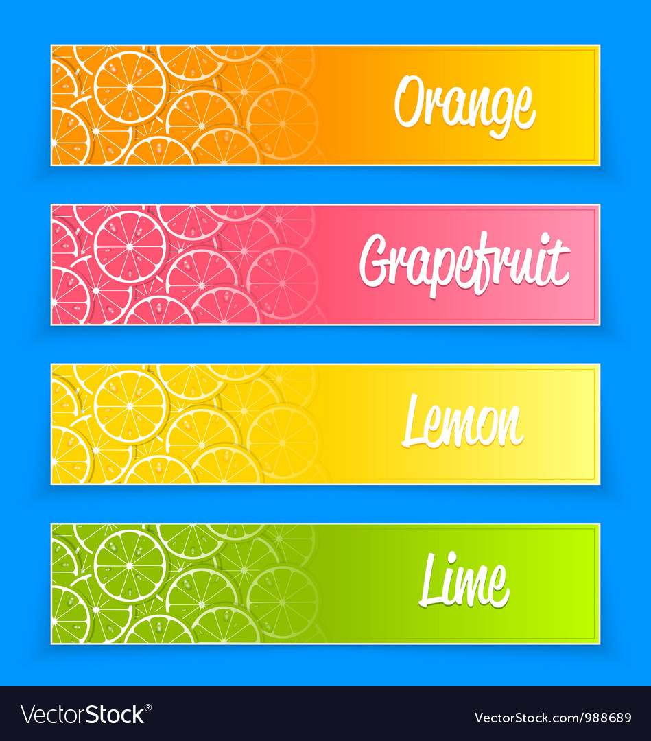 Promotional citrus banners vector | Price: 1 Credit (USD $1)