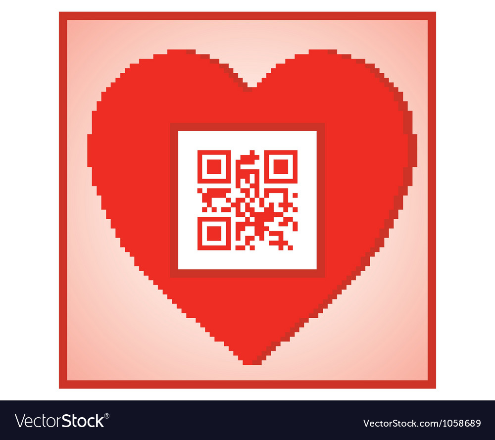 Qr code i love you vector | Price: 1 Credit (USD $1)