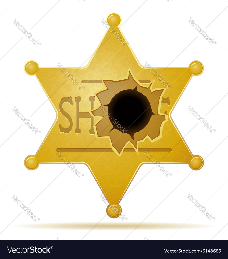 Star sheriff 02 vector | Price: 1 Credit (USD $1)