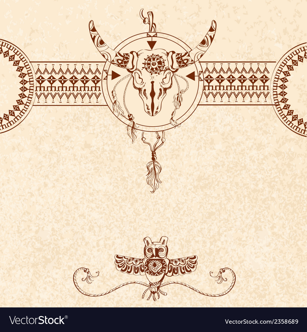 Tribal sketch background vector   Price: 1 Credit (USD $1)