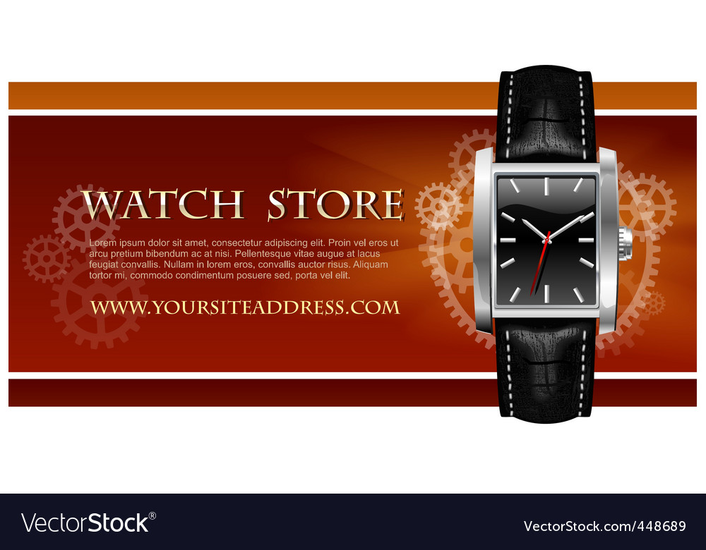 Watch store card vector | Price: 3 Credit (USD $3)