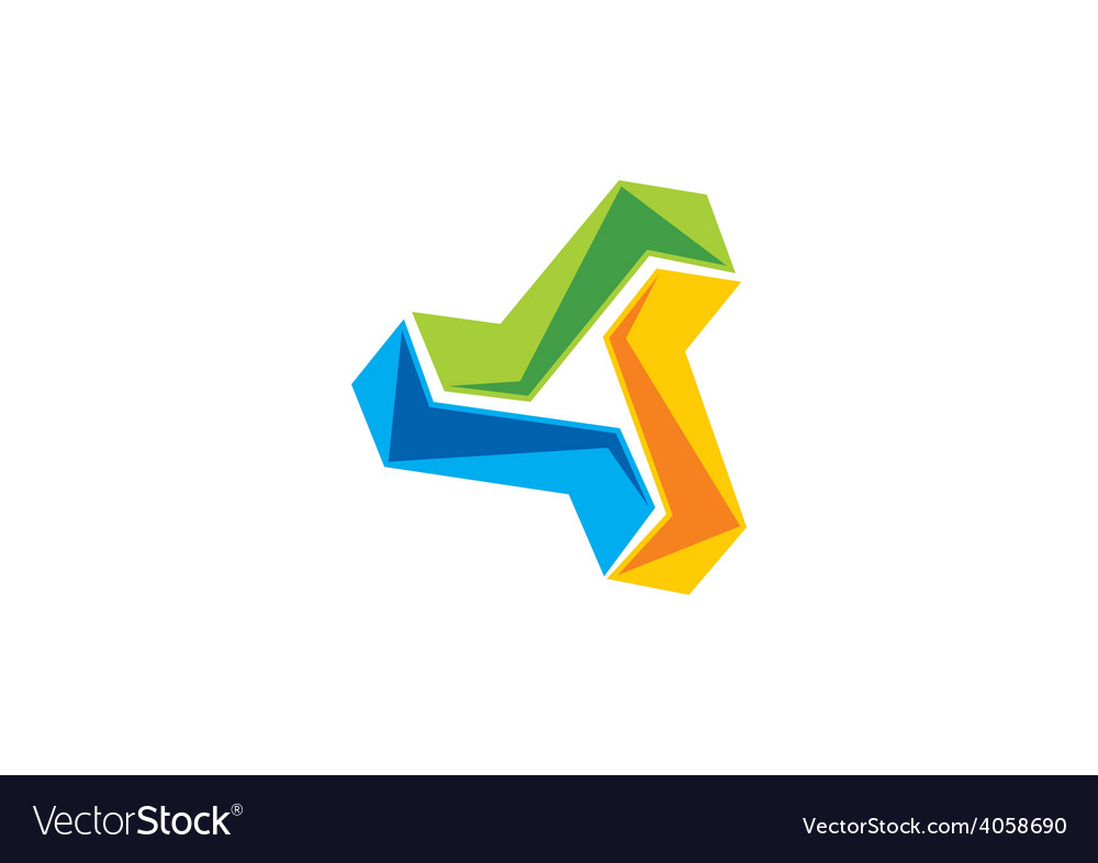 Circular shape technology logo vector | Price: 1 Credit (USD $1)