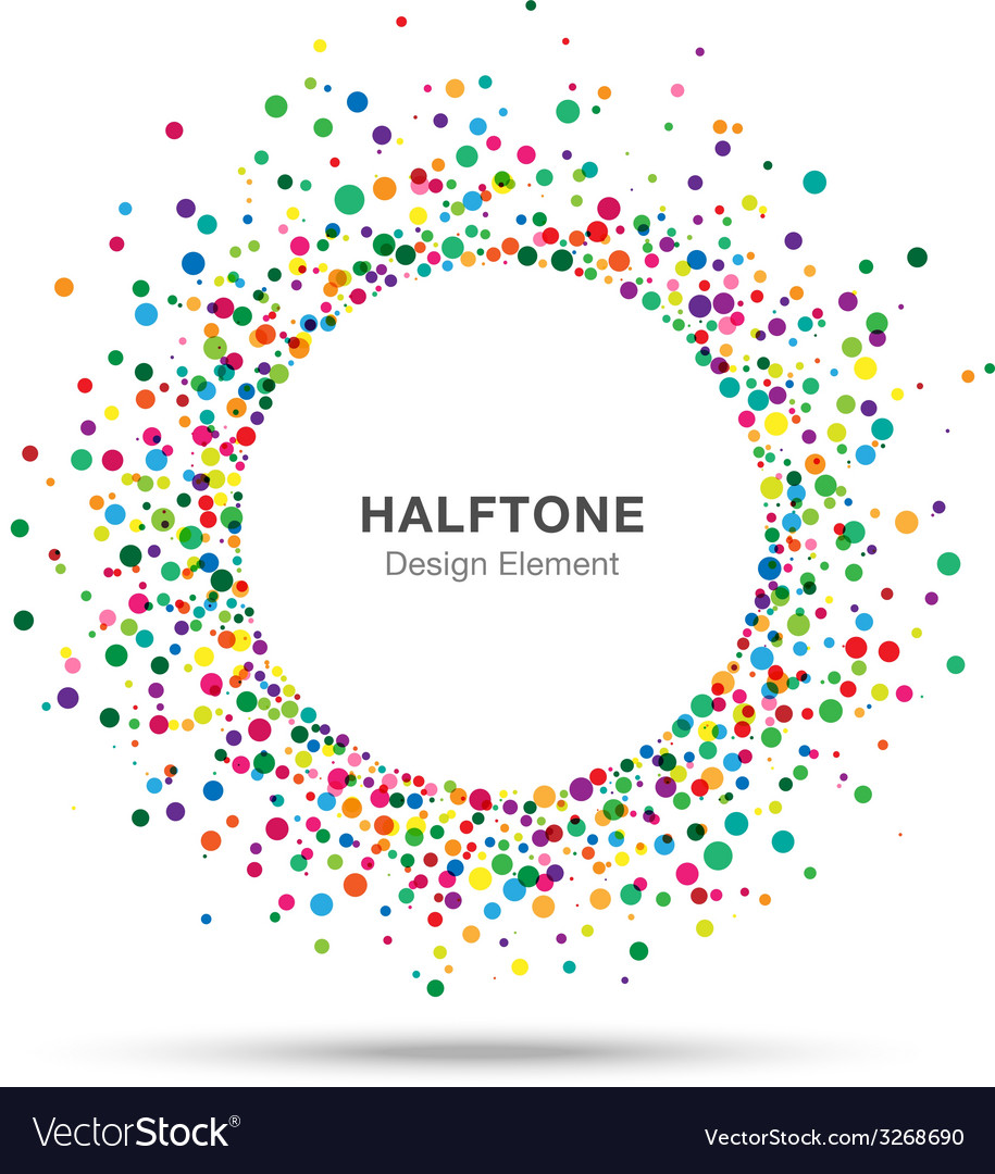 Colorful abstract halftone logo design element vector | Price: 1 Credit (USD $1)