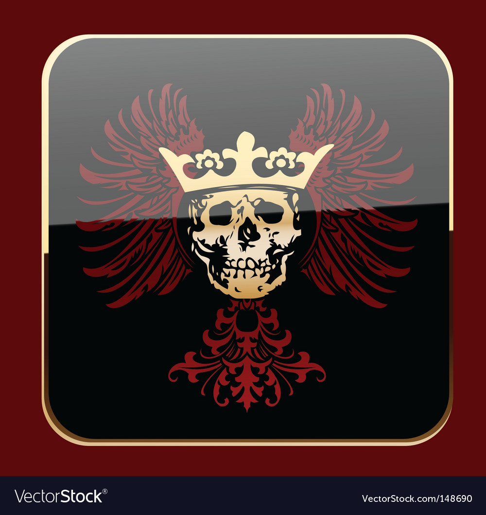 Crowned skull vector | Price: 1 Credit (USD $1)
