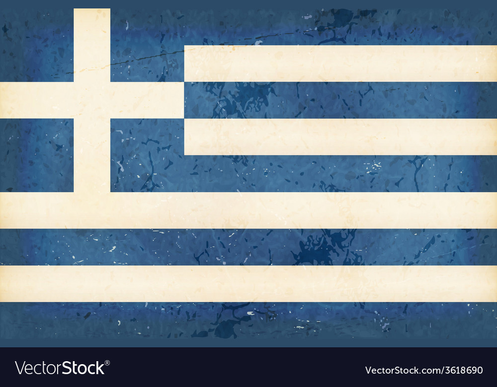 Flag of greece with grunge elements vector | Price: 1 Credit (USD $1)