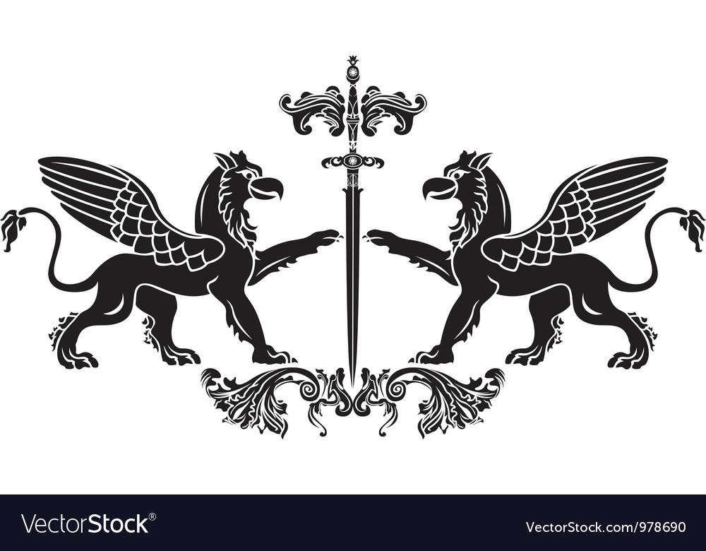 Griffin sword vector | Price: 1 Credit (USD $1)