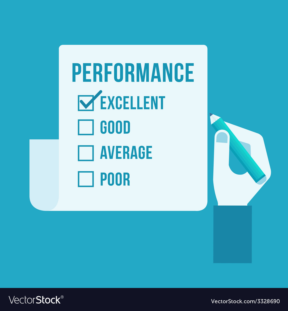 Performance evaluation form vector | Price: 1 Credit (USD $1)