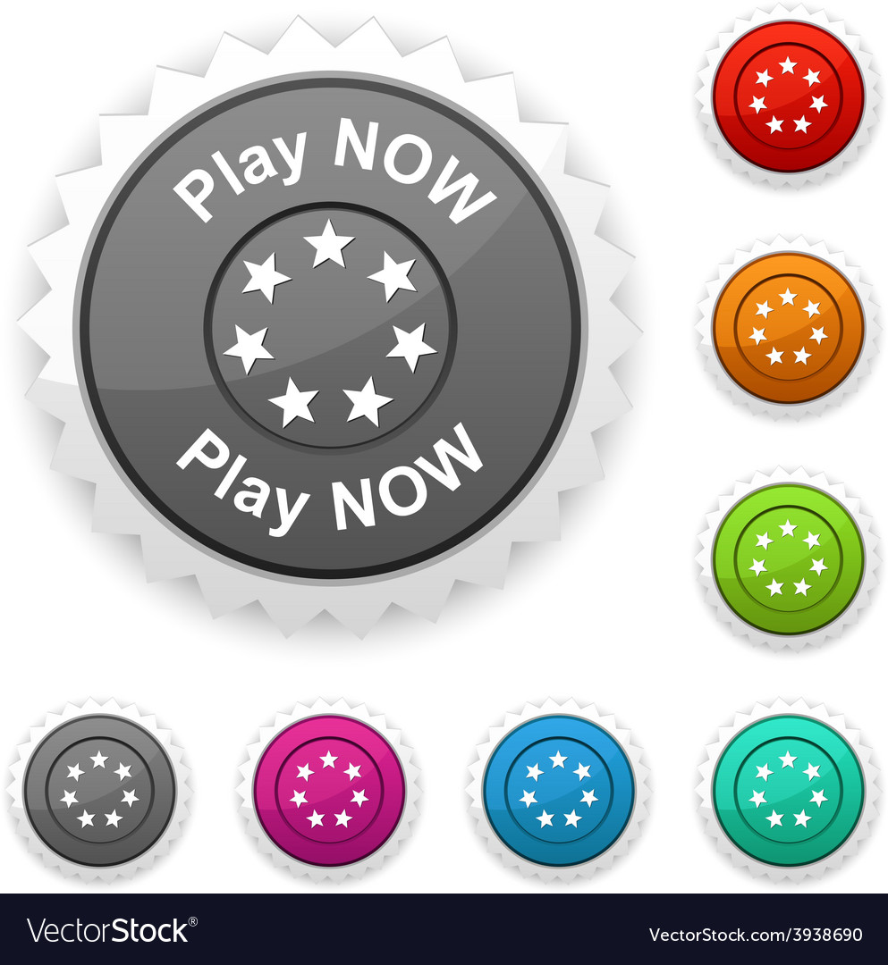 Play now award vector | Price: 1 Credit (USD $1)