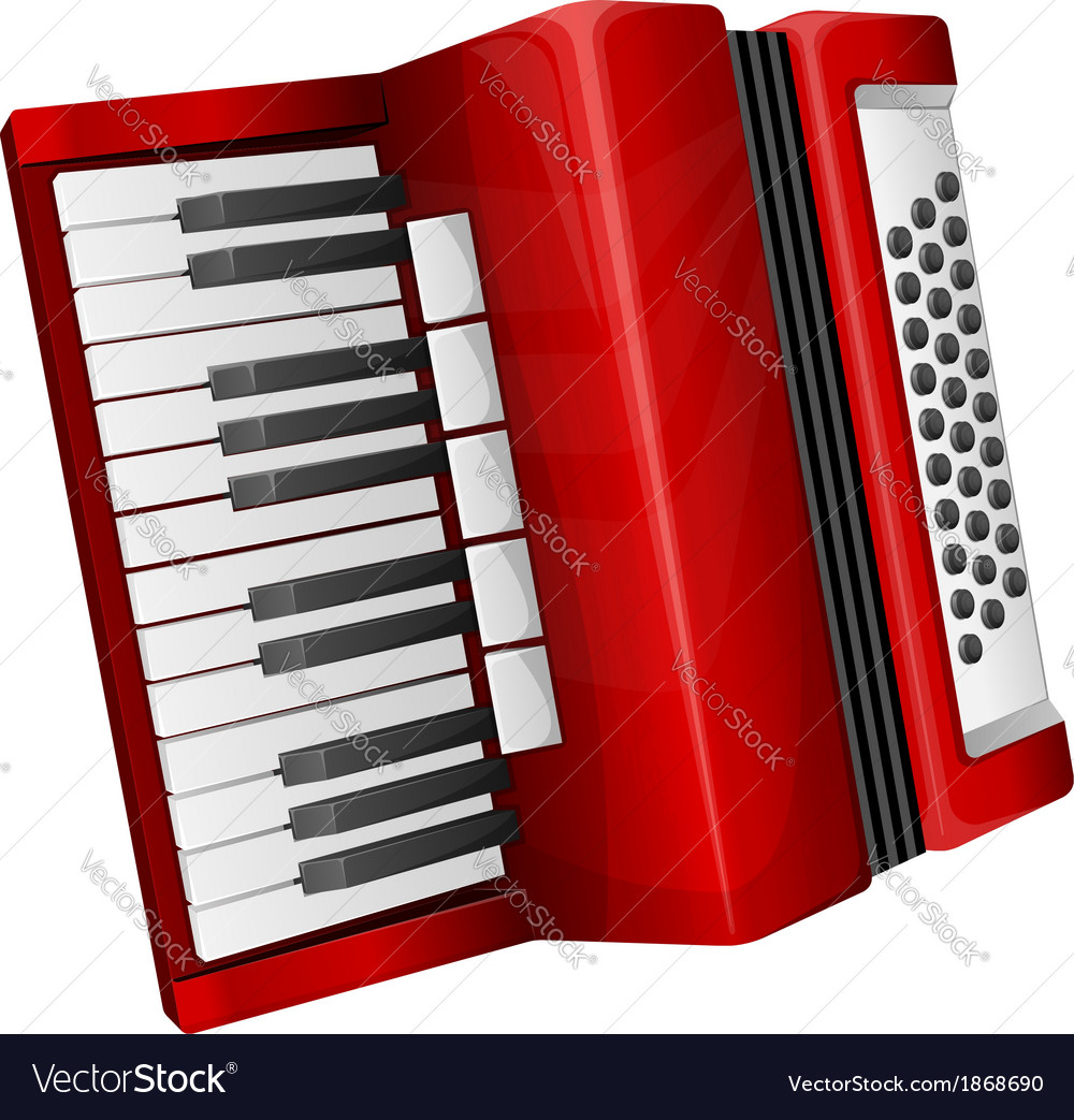 Red accordion vector | Price: 3 Credit (USD $3)