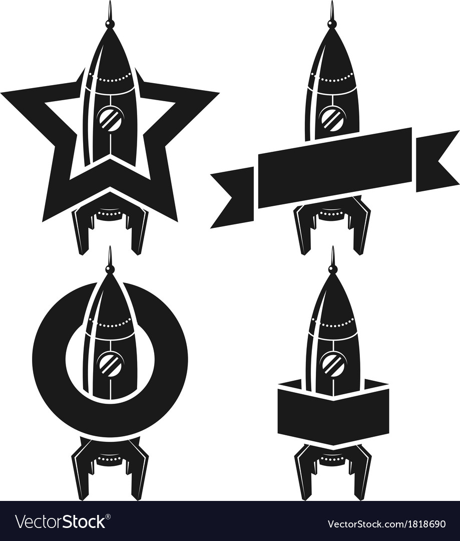 Space rocket symbols vector | Price: 1 Credit (USD $1)